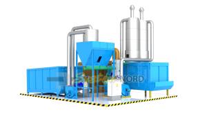 Closed-loop sawdust dryer completely automated